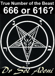 666 True Number of the Beast